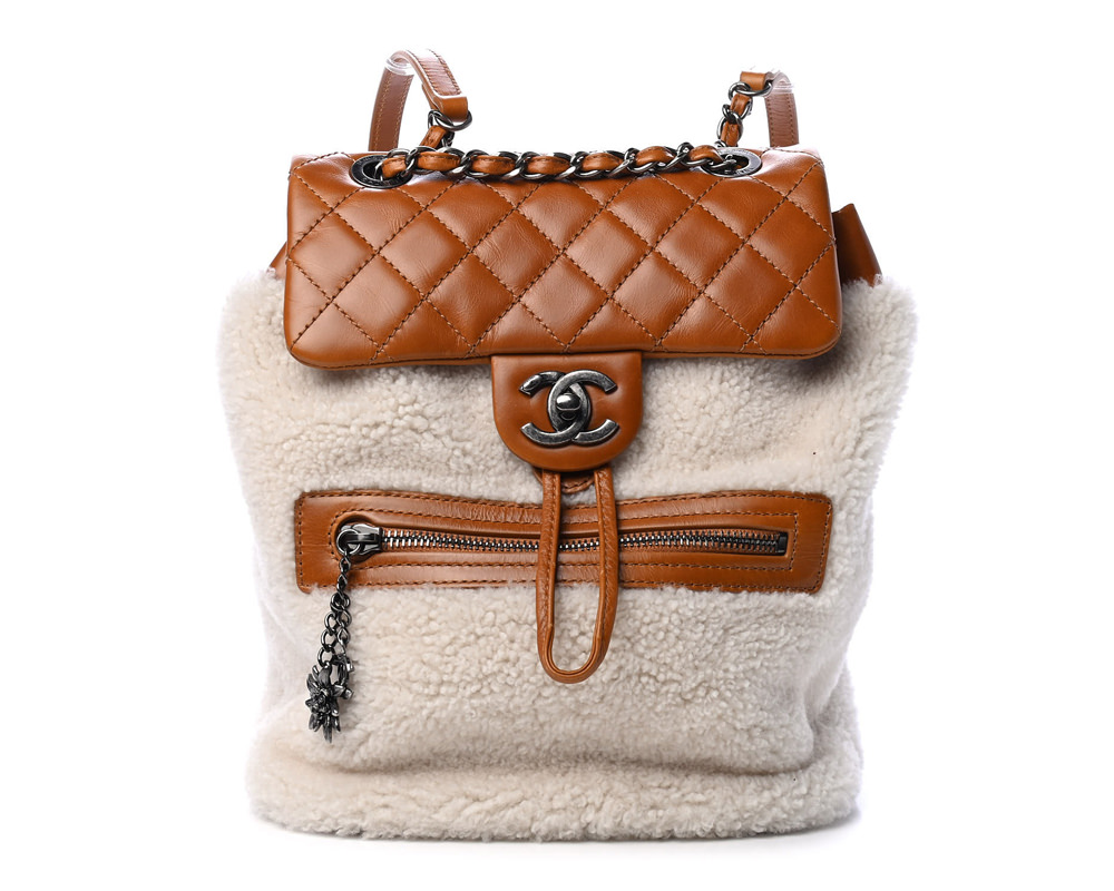 Chanel Shearling Backpack