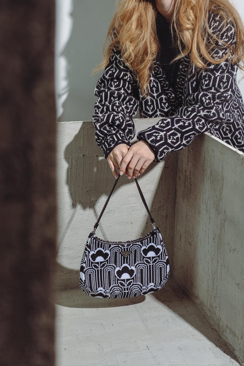 PRADA Jacquard Cleo Bag