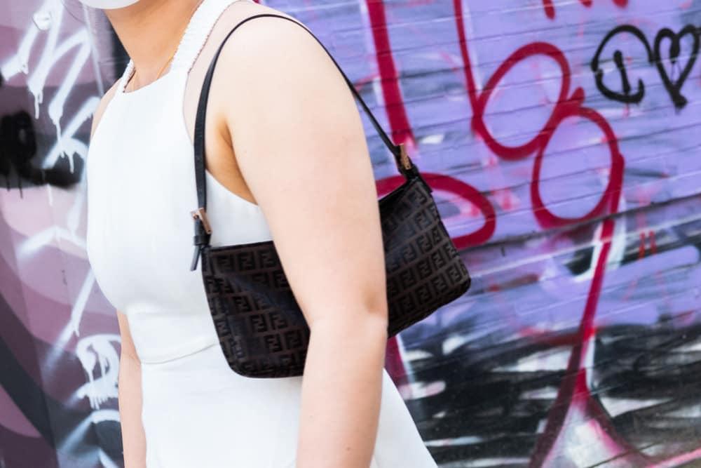 Vintage Fendi Zucca Shoulder Bag