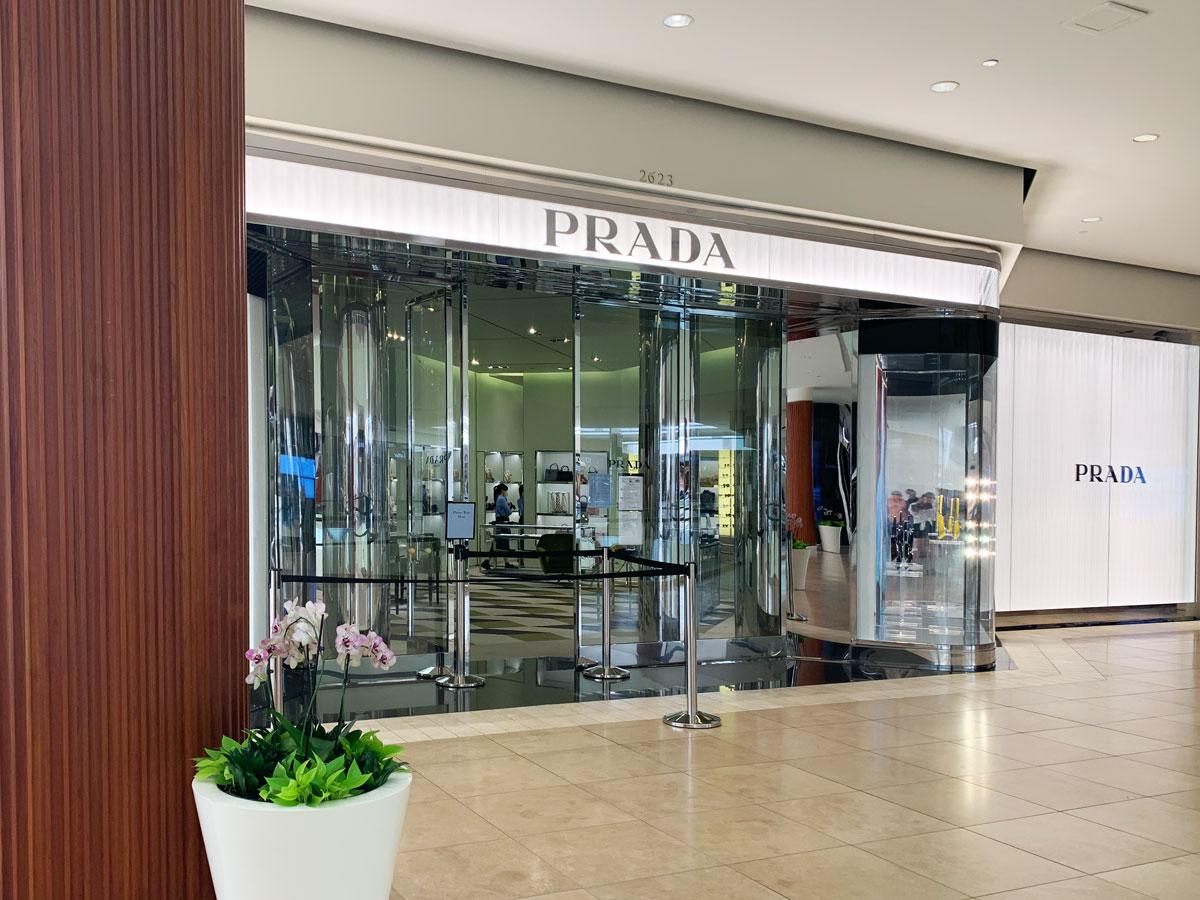 Prada boutique at South Coast Plaza