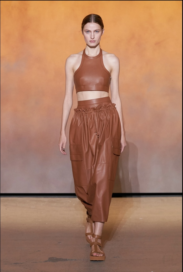 One of a number of core-centered looks (Look 18). Photo via Vogue.com